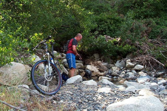 Trying to rinse off the poison oak badness.