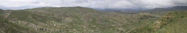 Panorama, with lots of the 2nd half of the course.
